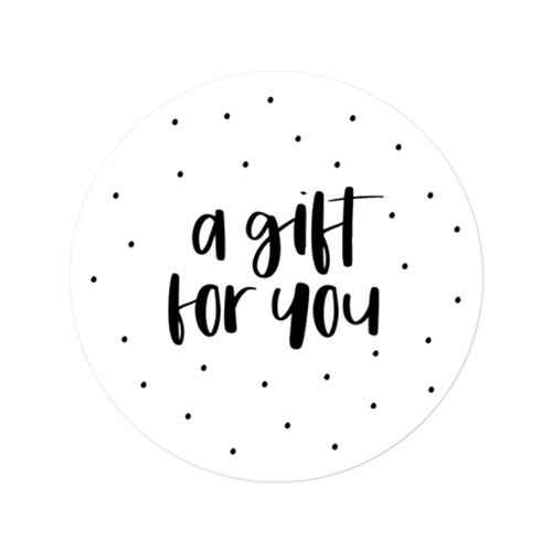 A gift for you - sluitsticker