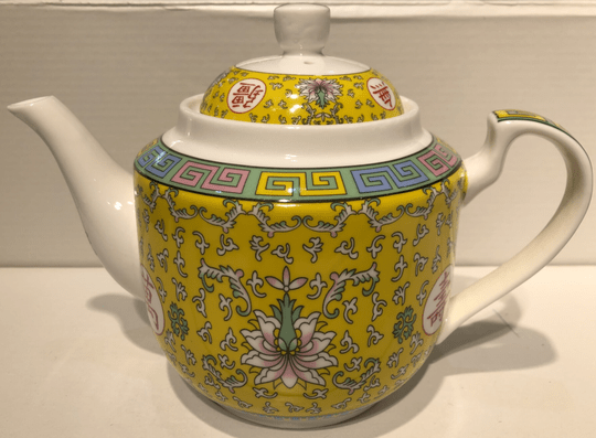 Chinese Theepot- Lang Leven Geel