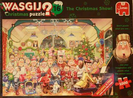 Wasgij Christmas puzzle 16 The christmas show !  2x 1000 st.