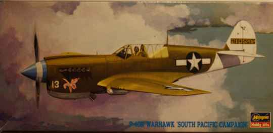 Hasagawa 1/72 p-40n warhawk 'south pacific campaign'