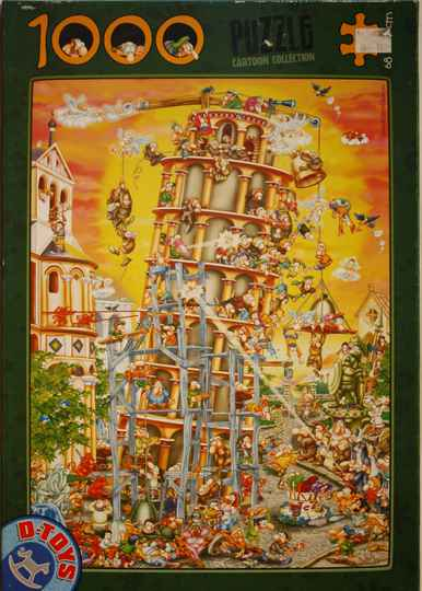 D-toys cartoon collection  tower of Pisa  1000 st