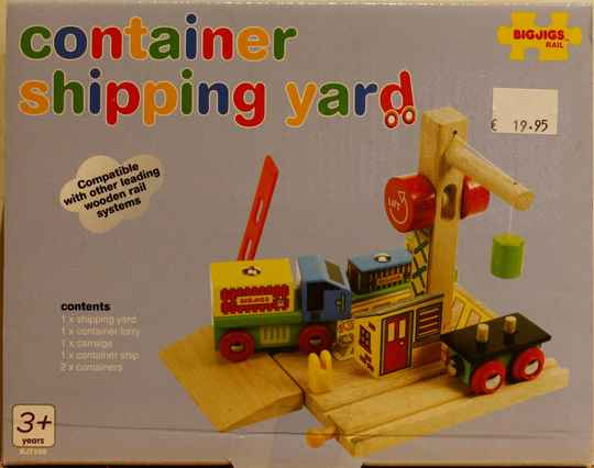 Bigjigs Container shipping yard 209
