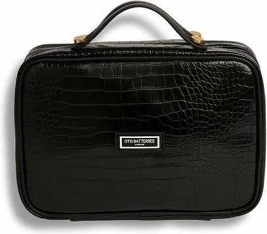 Otis Batterbee Toilettas Carry-on Toiletries Bag - zwart croc