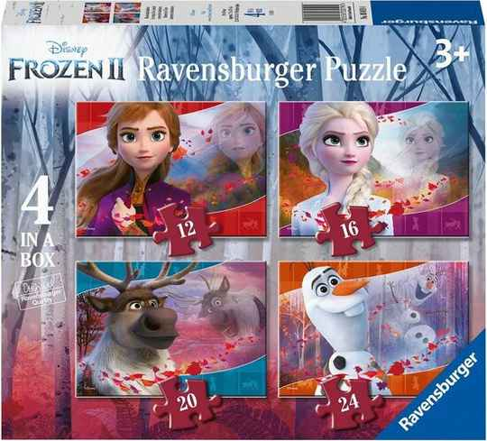 Ravensburger Disney Frozen 2 4in1box puzzel - 12+16+20+24 stukjes