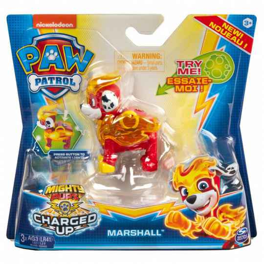 PAW Patrol Mighty Pups Charged Up Marshall Figuur
