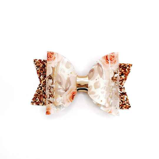 Gold floral bow