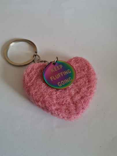 Keep Fluffing Going key ring/ bag charm