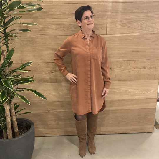 Pieces Why Lyocell Dress Roest SALE