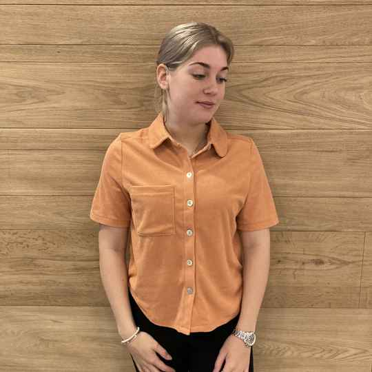 Pieces Teri SS Shirt Oranje