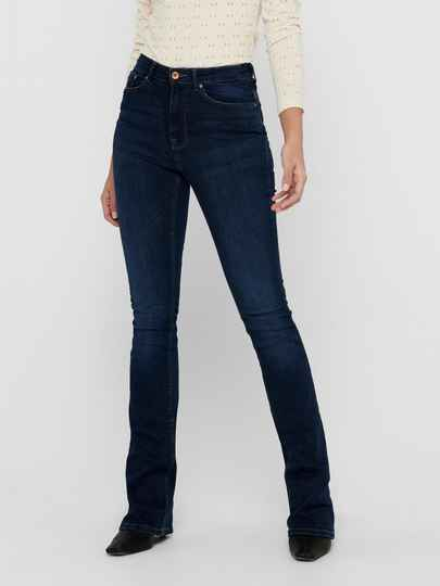 ONLY Paola Flared Jeans Donkerblauw