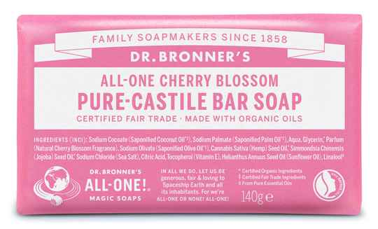 Dr Bronners Barsoap cherry blossom 140g - 31104