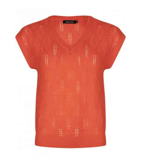 Knitted top Lynn Coral Red