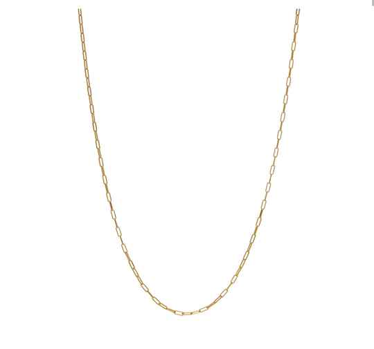 Ketting Chain Square goldplated