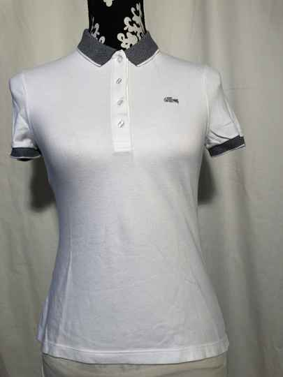 Lacoste witte polo maat 36