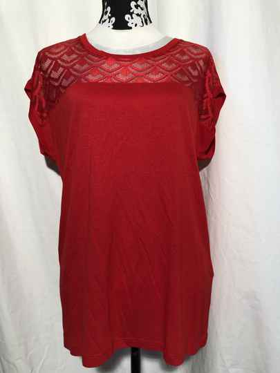 Only rood/kant t-shirt maat XL