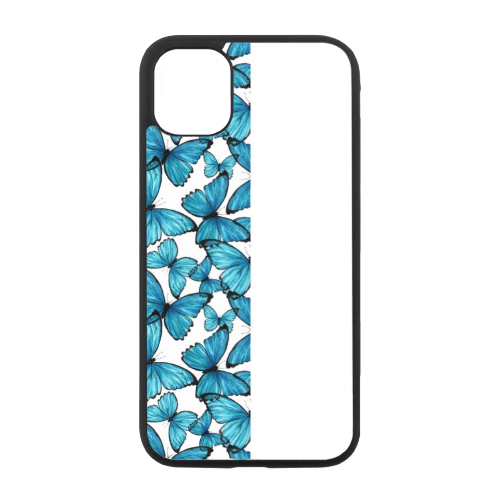 Fifty-fifty Butterfly Blue-White