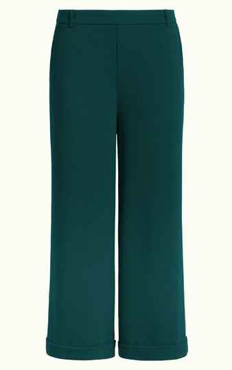 King Louie ethel culotte woven crepe, pine green