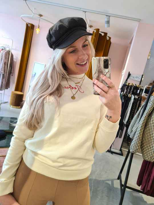 Pinned by K sweater J'adore -offwhite-