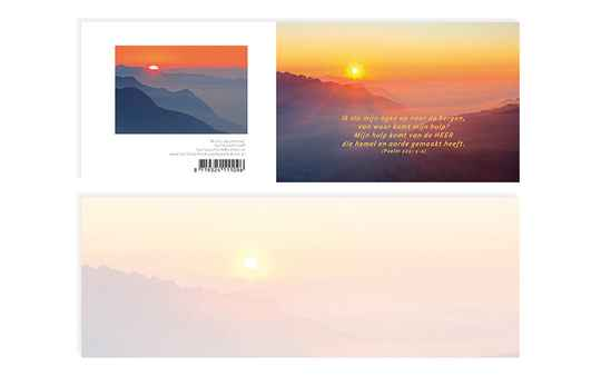09 Misty mountains Psalm 121:1-2 - A6 kaart met envelop - Karla Leeftink