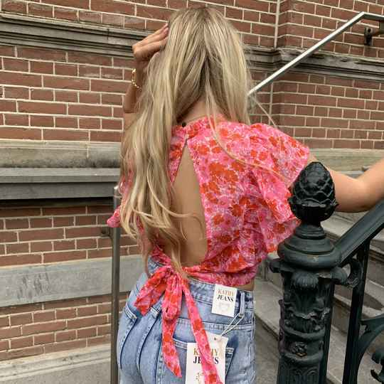 Top pink open back