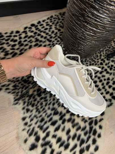 Sneakers white and beige