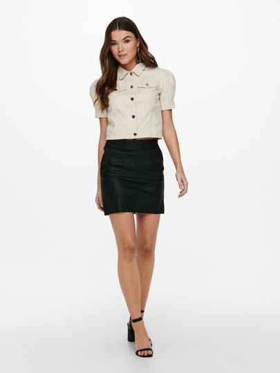 ONLY Base Faux Leather Skirt