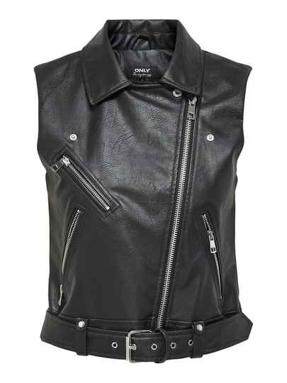 ONLY VERA FAUX LEATHER WAISTCOAT
