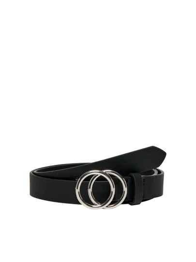 ONLY Rasmi Faux Leather Jeans Belt Black/Zilver