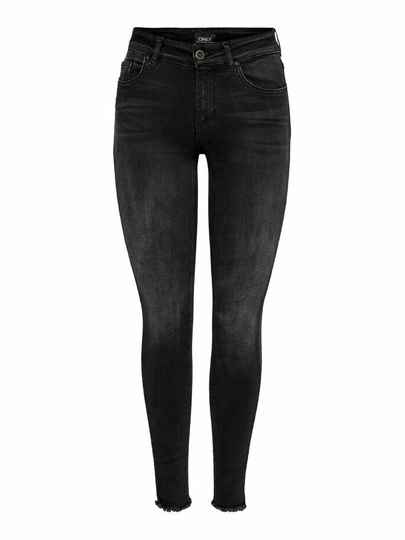 ONLY BLUSH LIFE MID ANKLE SKINNY JEANS Black rea1099