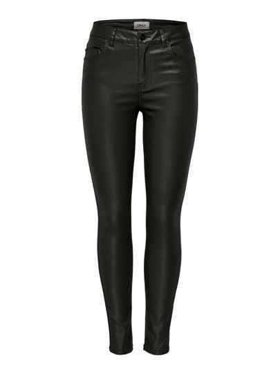ONLY Jeans Hush Life MidWaist Coated Black