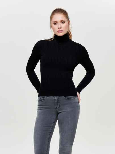 ONLY KAROL RollNeck Pullover Black
