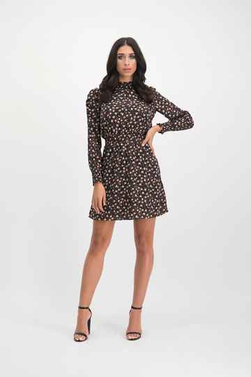 LOFTY MANNER Dress Fani Black-Orange