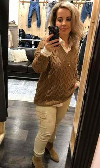 ONLY Bina long Pullover Taupe