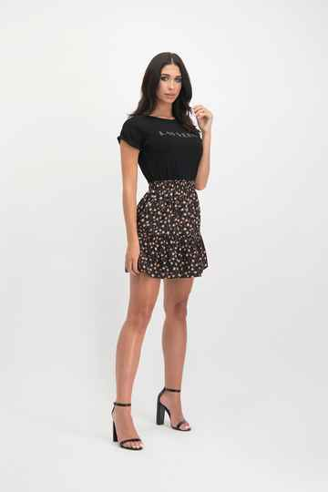 LOFTY MANNER Skirt Myrta Black-Orange