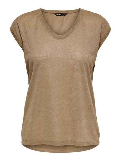 ONLY Silvery Neck Lurex Top
