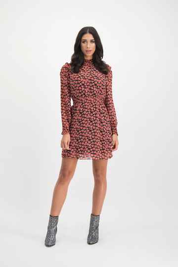 LOFTY MANNER Dress Fani Red Flower