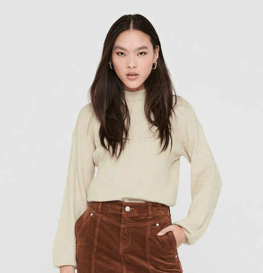 ONLY Marylynn Pullover Pumice Stone/Melange