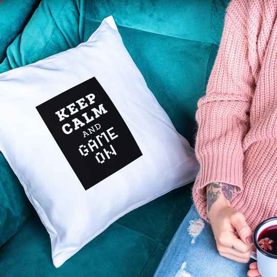 Keep Calm and Game on (Gamer Kissen 5715)