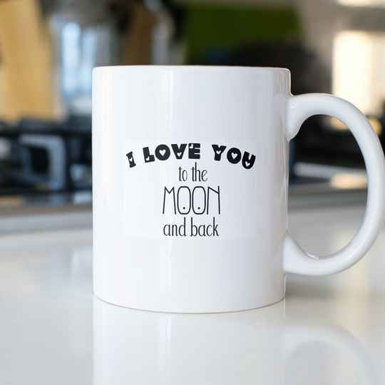 I Love you to the Moon and back (Sprüche Sonstige 0821.2)