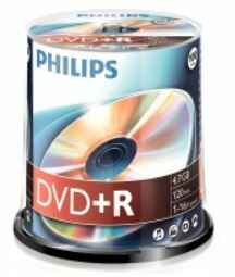 Philips DVD+R 4,7 GB spindel 100 stuks