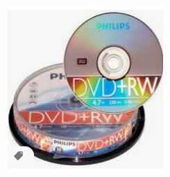 Philips DVD+RW 4,7 GB spindel  10 stuks