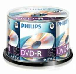 Philips DVD-R 4,7 GB spindel 50 stuks