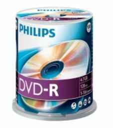 Philips DVD-R 4,7 GB spindel 100 stuks