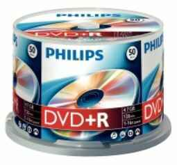 Philips DVD+R 4,7 GB spindel 50 stuks