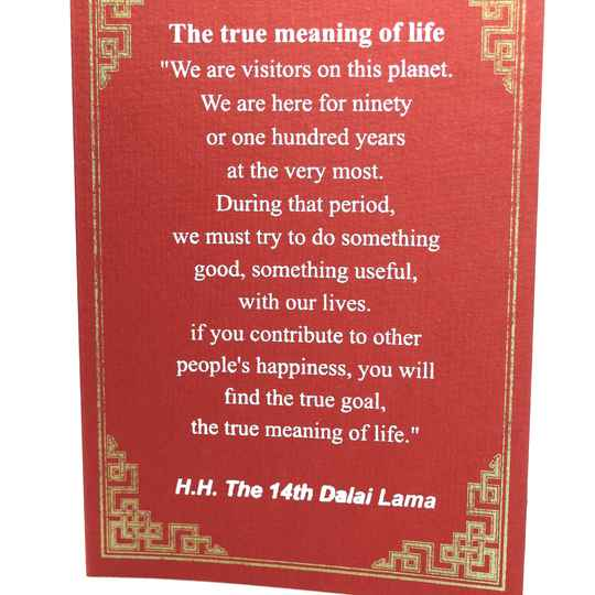 Dalai Lama kaarten (THE TRUE MEANING OF LIFE)
