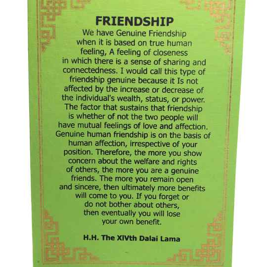 Dalai Lama kaarten (FRIENDSHIP)
