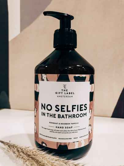 "Flüssigseife ""No Selfies"" The Gift Label"