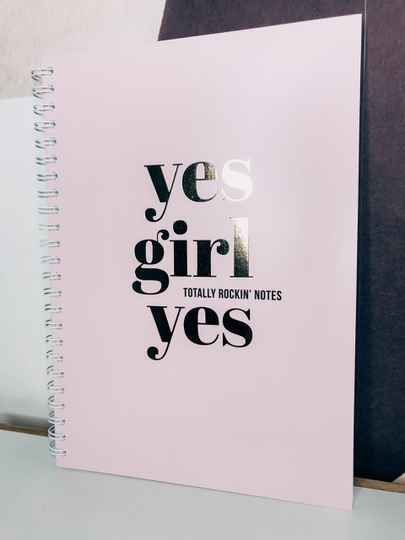 "Notebook ""Yes Girl"""