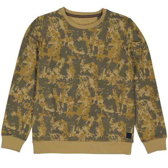 Levv sweater Ries AOP Grunge Sand Stone