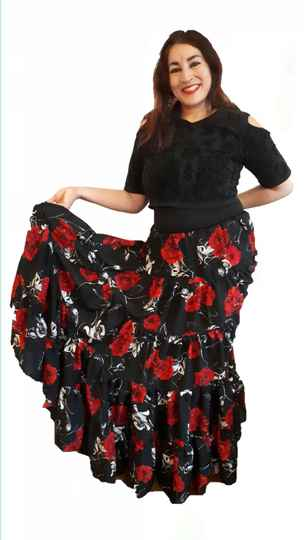 Gypsy skirt Red Flowers